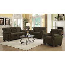 Clemintine Brown Three-piece Living Room Set