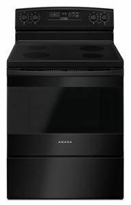 Amana30-Inch Electric Range With Extra-Large Oven Window - Black