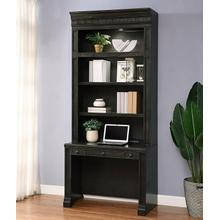 View Product - WASHINGTON HEIGHTS In-wall Library Desk and Hutch