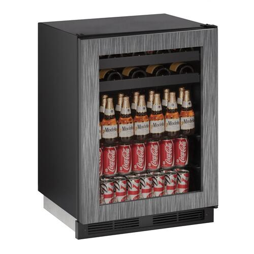 """U-Line - 1224bev 24"""" Beverage Center With Integrated Frame Finish (115 V/60 Hz Volts /60 Hz Hz)"""