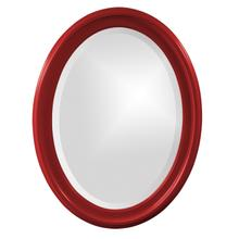 View Product - George Mirror - Glossy Red