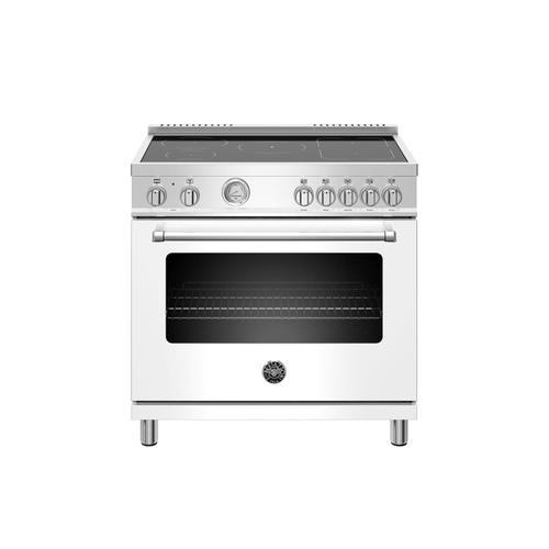 Bertazzoni - 36 inch Induction Range, 5 Heating Zones, Electric Oven Bianco Matt