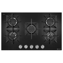"Black Floating Glass 30"" 5-Burner Gas Cooktop Black"