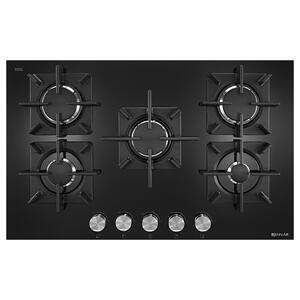 "Jenn-AirBlack Floating Glass 30"" 5-Burner Gas Cooktop Black"