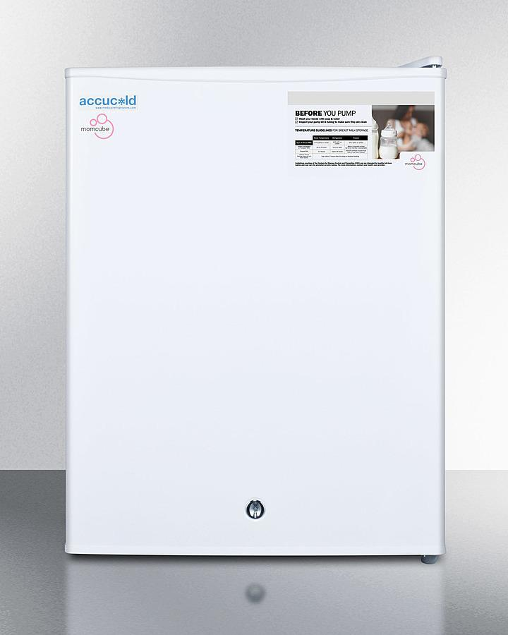 SummitCountertop Momcube All-Freezer For Storage Of Breast Milk, Manual Defrost With Lock And Reversible Door