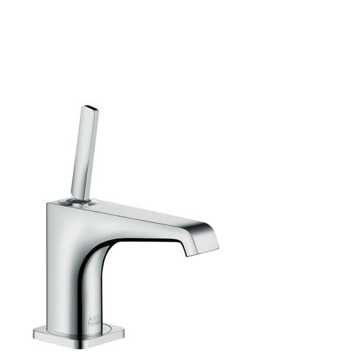 Polished Black Chrome Pillar tap 90 with pin handle without waste set