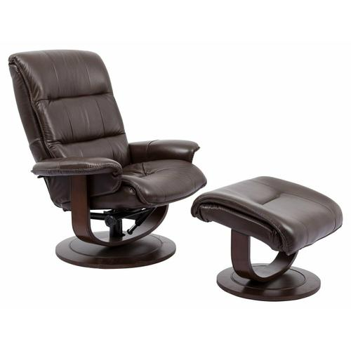 Product Image - KNIGHT - ROBUST Manual Reclining Swivel Chair and Ottoman