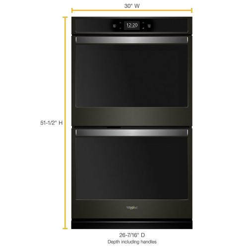 Whirlpool - 10.0 cu. ft. Smart Double Wall Oven with True Convection Cooking