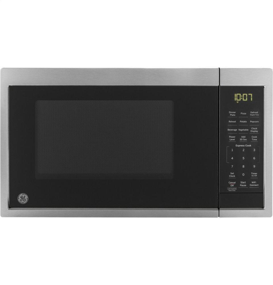 GE0.9 Cu. Ft. Capacity Smart Countertop Microwave Oven With Scan-To-Cook Technology