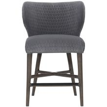 View Product - Kemp Counter Stool in Portobello Finishes Available Cocoa (CN1) Portobello (PN1) Smoke (SN1) Description Upholstered seat with welt Fully upholstered curved back Powder-coated metal cap on front stretcher in black finish Glides Options Note: Must be ordered with welt. No nailhead option. Available in other fabrics or COM. To order in the available non-wire brushed finishes, specify the 3-digit finish number. Also available in wire brushed finishes - Glacier White, Midnight Black and Weathered Greige. See 305-585W . Specifications subject to change without notice. Due to differences in screen resolutions, the fabrics and finishes displayed may vary from the actual fabric and finish colors. ALL RELATED PRODUCTS