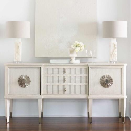 Product Image - Allure Round Dining Table in Manor White (399)