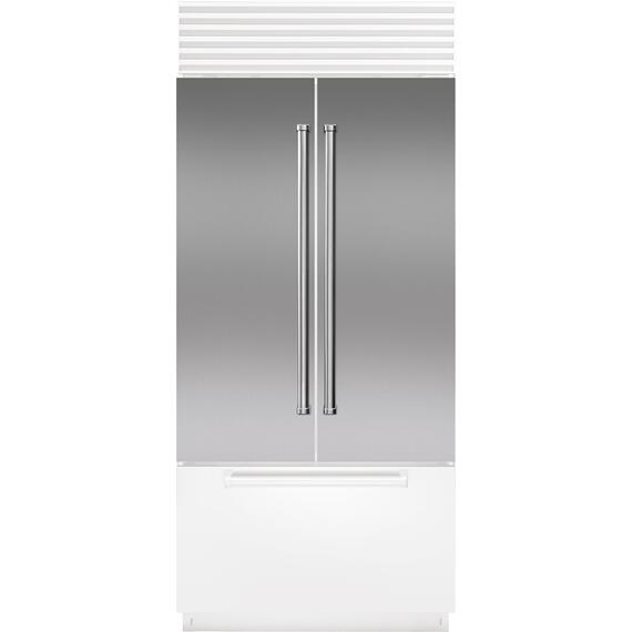 Sub-Zero - Stainless Steel Flush Inset Door Panel with Pro Handle