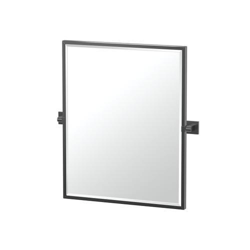 Elevate Framed Rectangle Mirror in Matte Black
