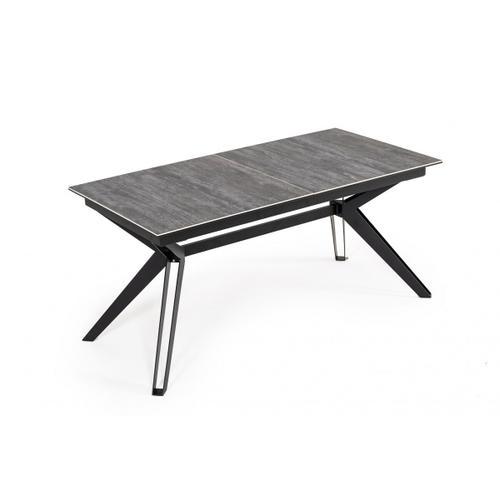 Gallery - Modrest Dennis - Modern Grey Ceramic Extendable Dining Table