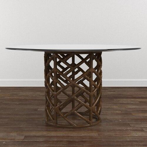 "Custom Dining 54"" Glass Table w/Bali Base"