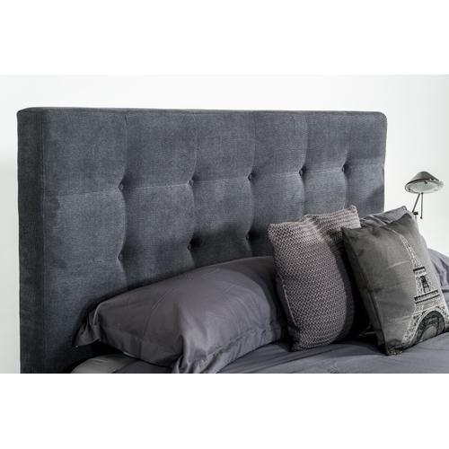 VIG Furniture - Modrest Addison Mid-Century Modern Grey Fabric & Walnut Bed