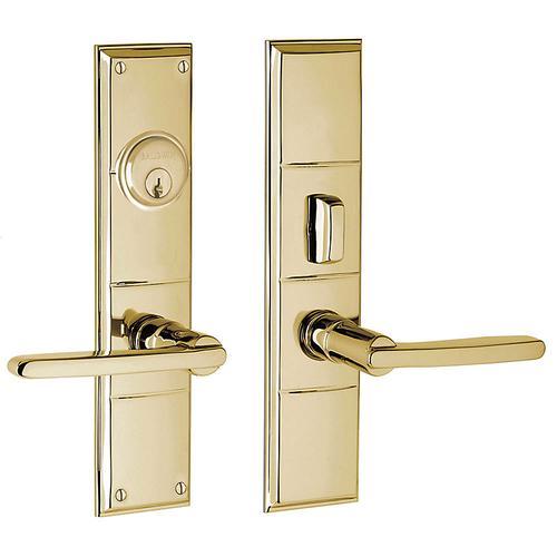 Non-Lacquered Brass Houston Entrance Trim