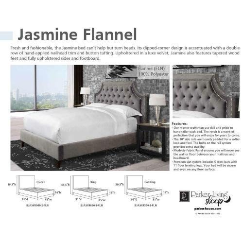 JASMINE - FLANNEL King Headboard 6/6 (Grey)