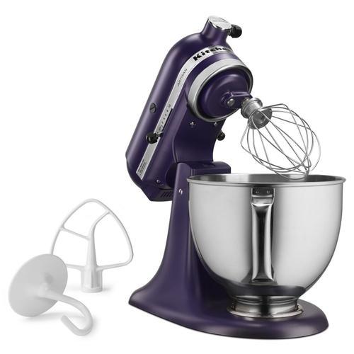 KitchenAid - Artisan® Series 5 Quart Tilt-Head Stand Mixer Matte Black Violet