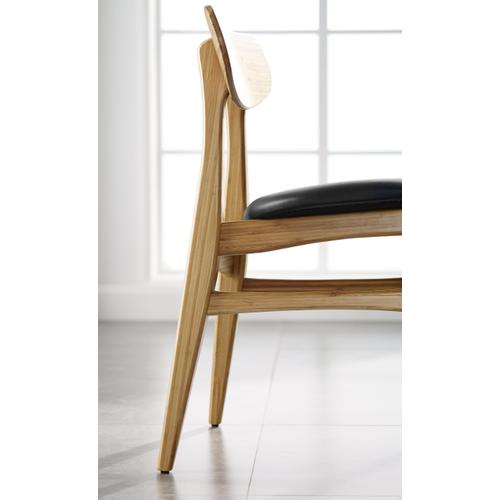 Greenington Fine Bamboo Furniture - Cassia Dining Chair With Leather Seat, Caramelized, (Set of 2)
