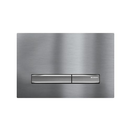 Sigma50 Dual-flush plates for Sigma series in-wall toilet systems Brushed Chrome Finish