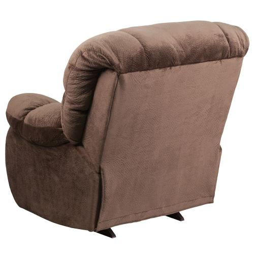 Contemporary Sharpei Espresso Microfiber Rocker Recliner