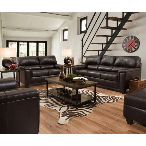 2038 Loveseat in Soft Touch Bark