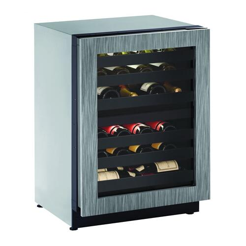 """U-Line - 2224zwc 24"""" Dual-zone Wine Refrigerator With Integrated Frame Finish and Field Reversible Door Swing (115 V/60 Hz Volts /60 Hz Hz)"""