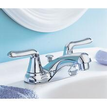 Colony Soft 2-Handle 4 Inch Centerset Bathroom Faucet Standard Drain - Polished Chrome