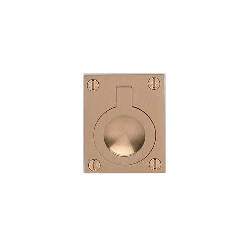 Rectangular Drop Ring in US4 (Satin Brass, Lacquered)