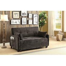Transitional  Charcoal fabric Sofa Bed