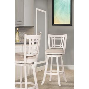 Fairfox Swivel Bar Stool - White