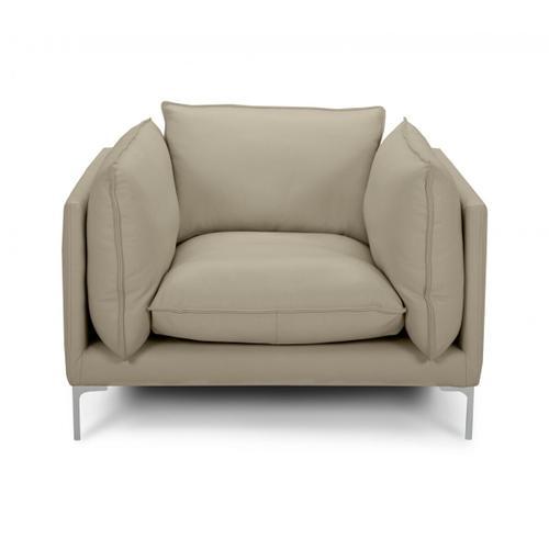 VIG Furniture - Divani Casa Harvest - Modern Taupe Full Leather Chair