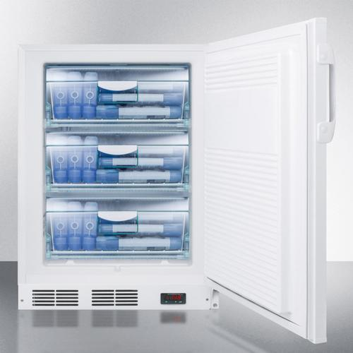 Summit - ADA Compliant Built-in Undercounter Vaccine All-freezer With Digital Thermostat, Temperature Alarm, Hospital Grade Cord, Self-closing Door, and Front Lock