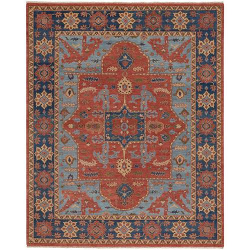 """Capel Rugs - Estate-Nomad Rust Navy - Rectangle - 9'6"""" x 13'6"""""""