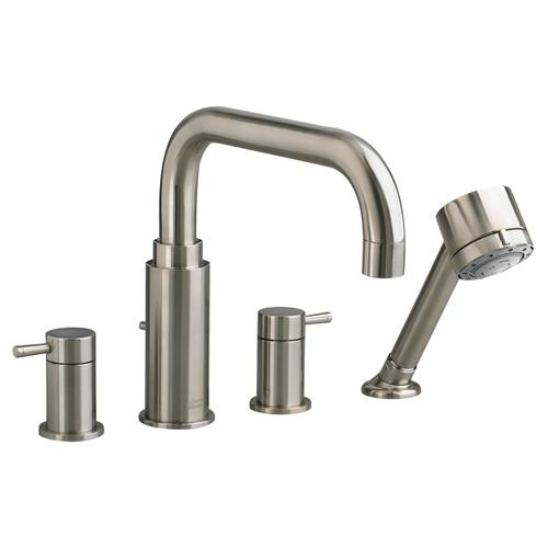 Serin Deck-Mount Bathtub Faucet - Brushed Nickel