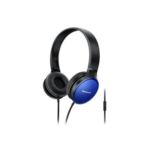 Lightweight On-Ear Headphones with Mic and Controller - Blue - RP-HF300M-A