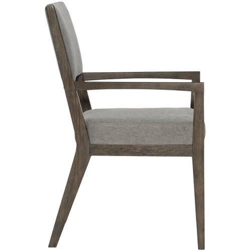 Linea Arm Chair in Cerused Charcoal (384)