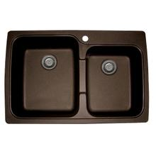 Artisan Composite Dual Mount Double Bowl Sink