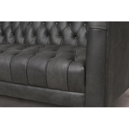 "75"" Size Natural Washed Ebony Cover Williams Leather Sofa"