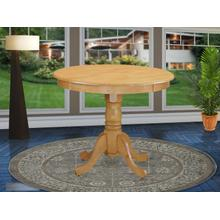 """Antique Table 36"""" Round with Oak Finish"""
