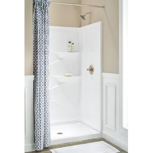 """Delta Faucet Company - High Gloss White 48"""" x 34"""" Shower Wall Set"""