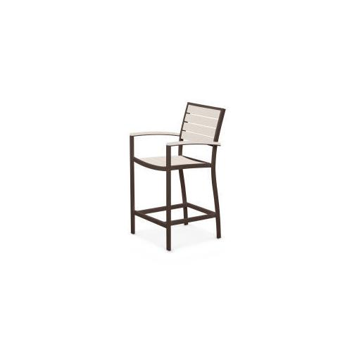Polywood Furnishings - Eurou2122 Counter Arm Chair in Textured Bronze / Sand