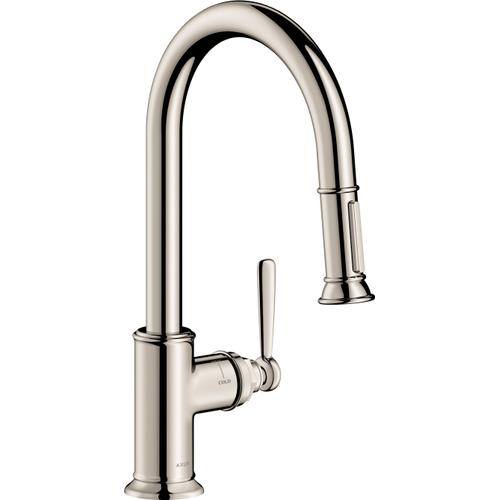 Polished Nickel HighArc Kitchen Faucet 2-Spray Pull-Down, 1.75 GPM