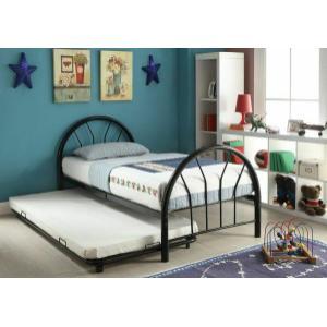 ACME Silhouette Twin Bed - 30450T-BK - Black