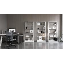 See Details - Eileen Blanc 5157 Leaning Shelf in Smooth Satin White
