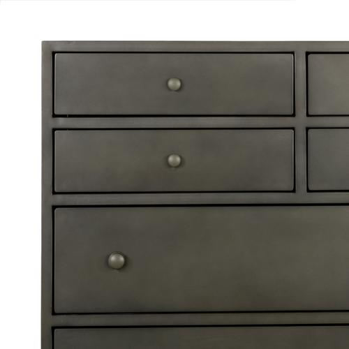 Gunmetal Finish Belmont 8 Drawer Tall Dresser