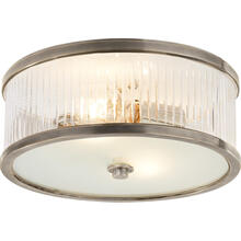 Alexa Hampton Randolph 2 Light 14 inch Antique Nickel Flush Mount Ceiling Light