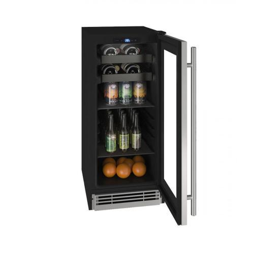 "U-Line - Hbv115 15"" Beverage Center With Stainless Frame Finish (115v/60 Hz Volts /60 Hz Hz)"