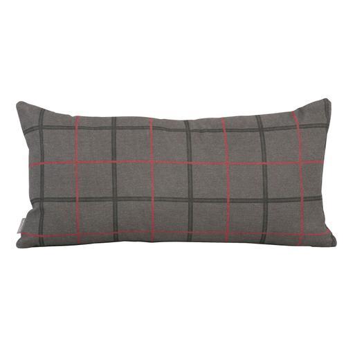 Howard Elliott - Kidney Pillow Oxford Charcoal - Down Insert